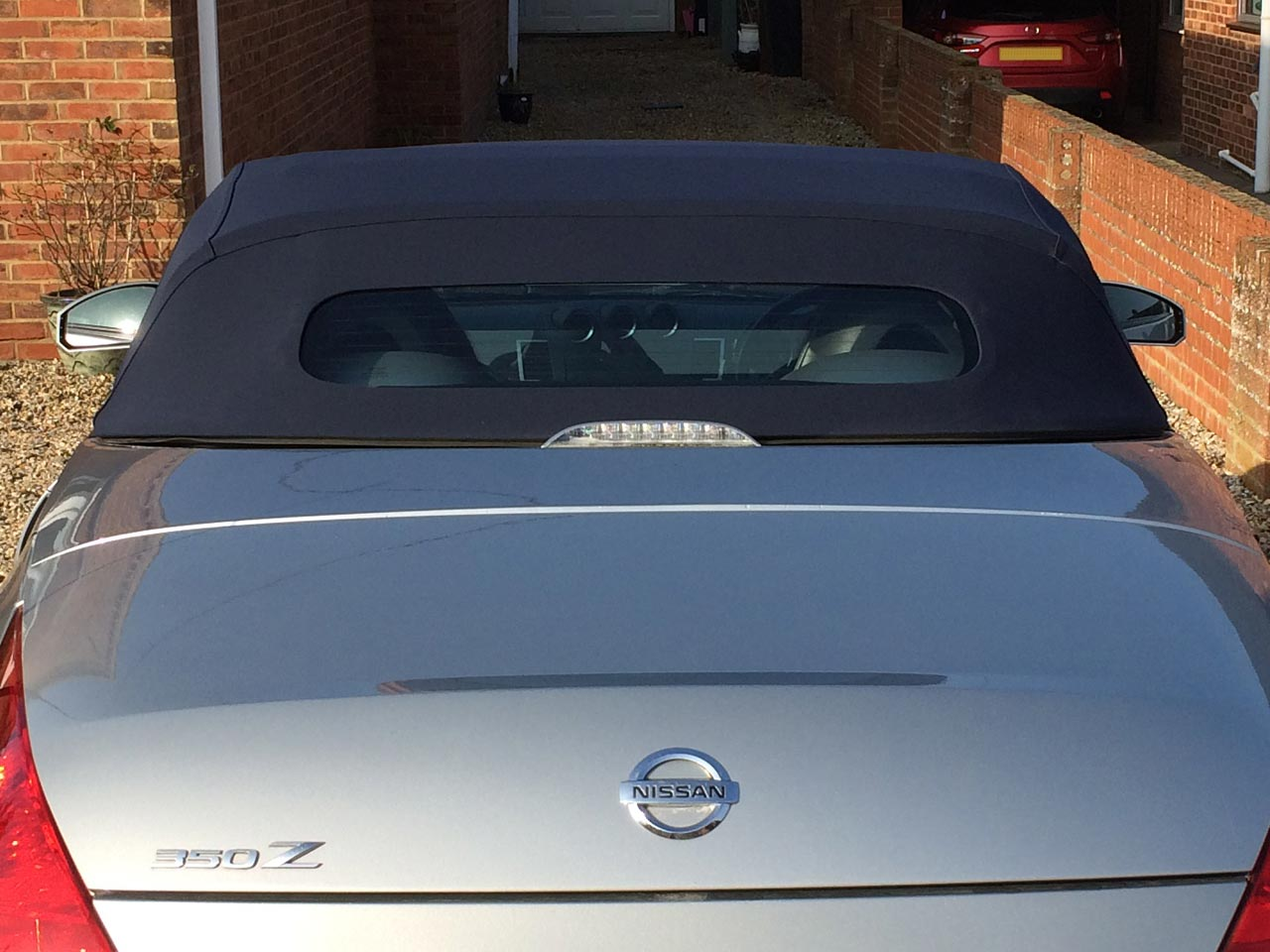 Soft Top Hood Replacement Nissan 350Z Rear Window