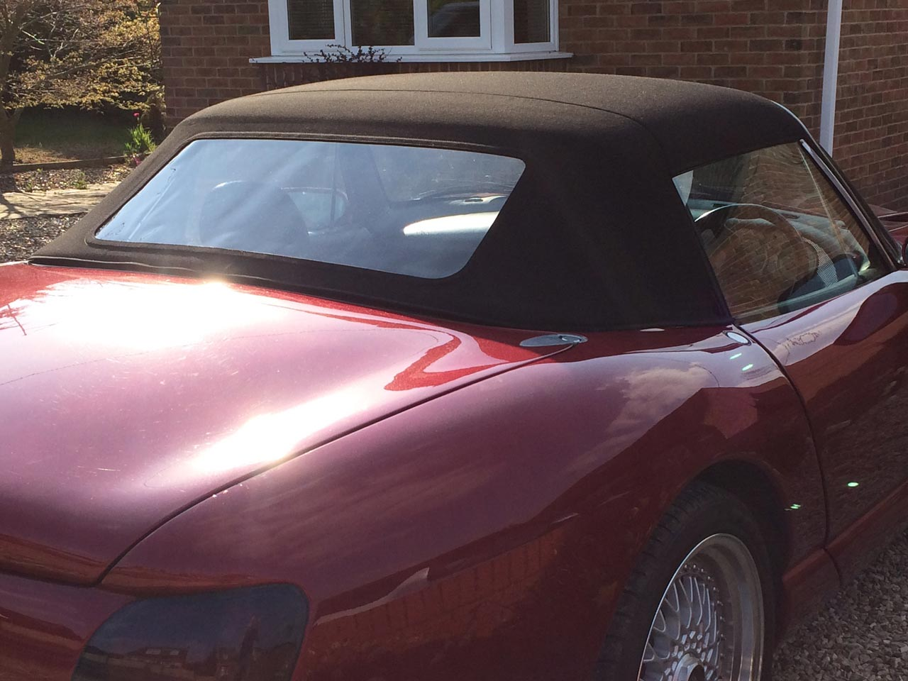 Soft Top Hood Replacement TVR Red